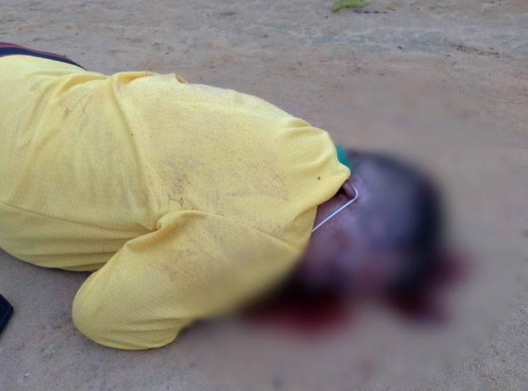 Edimilson foi atingido em cheio na cabeça por disparos de arma de fogo