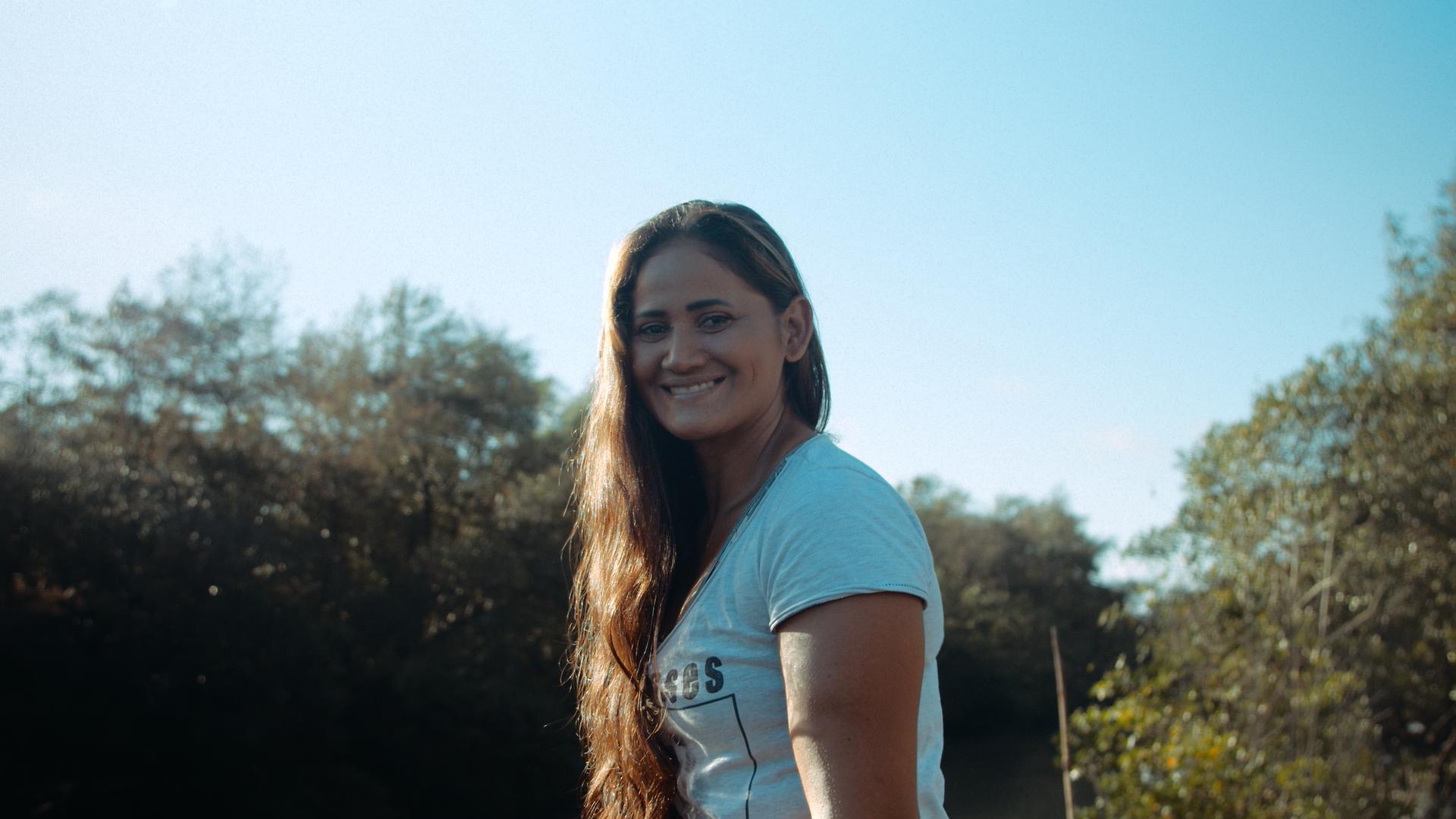Valdenice, da Reserva Extrativista Caeté-Taperaçu, em Bragança