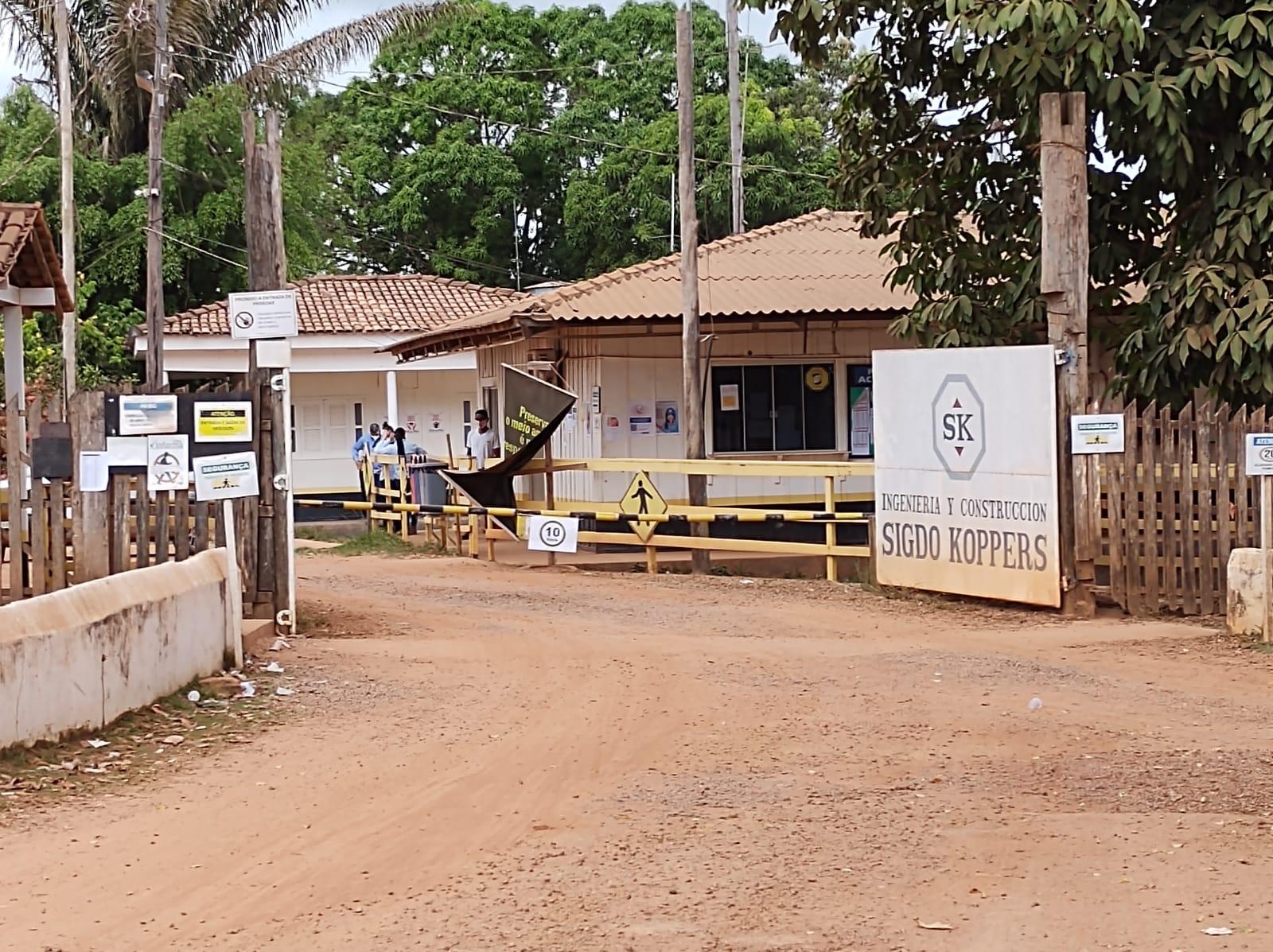 Canteiro de obras da SK, em Pacajá.