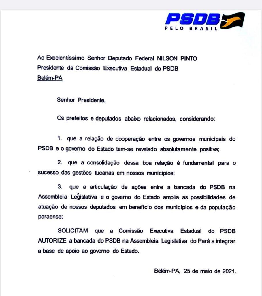O documento pode ser considerado histórico, afinal aproxima antigos rivais políticos em prol da união pela continuidade da melhoria do Estado do Pará.