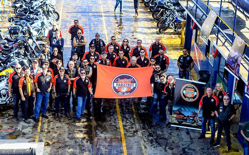 Bandera da Confraria Harleyros do Pará: a Amazônia no mototciclismo.