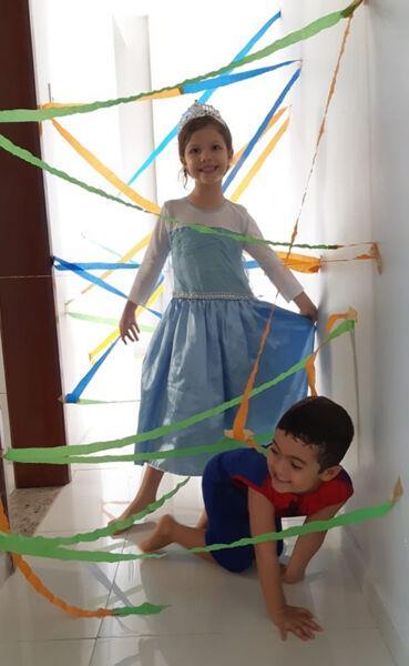 Atividades garantem diversão para as crianças no período de quarentena.