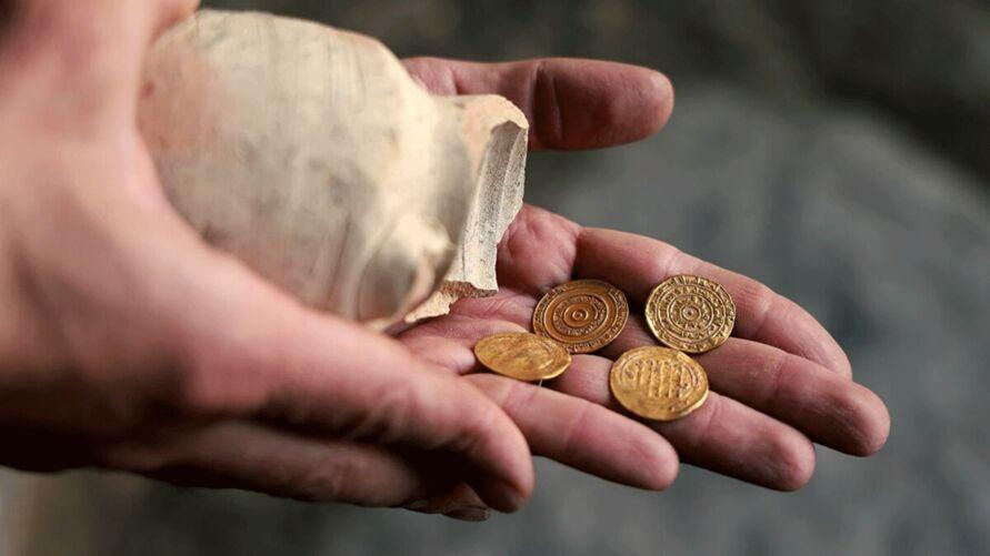 As moedas descobertas em Jerusalém