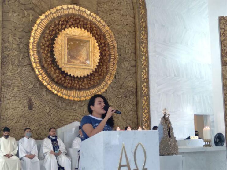 Imagens de Nossa Senhora de Nazaré e Aparecida se encontram na Pedreira