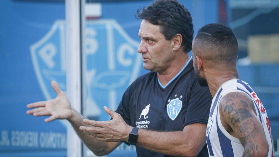Primeiro treino do retorno do técnico João Brigatti