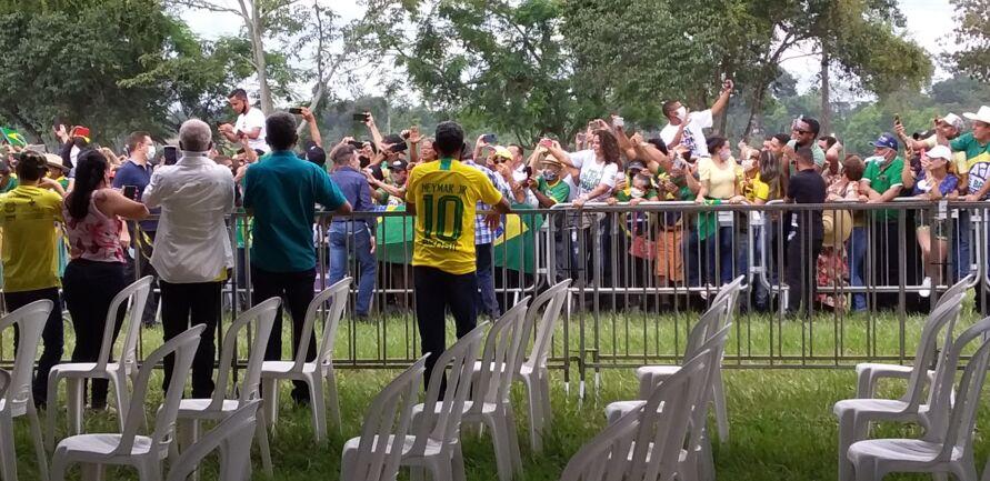 Visita de Bolsonaro a Marabá registra grandes aglomerações