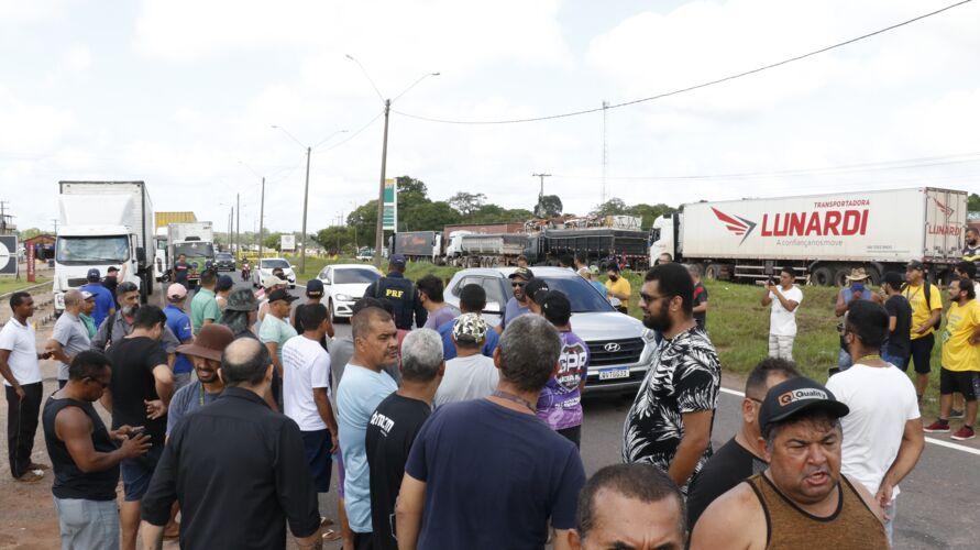 Caminhoneiros bloquearam rodovias federais no Pará
