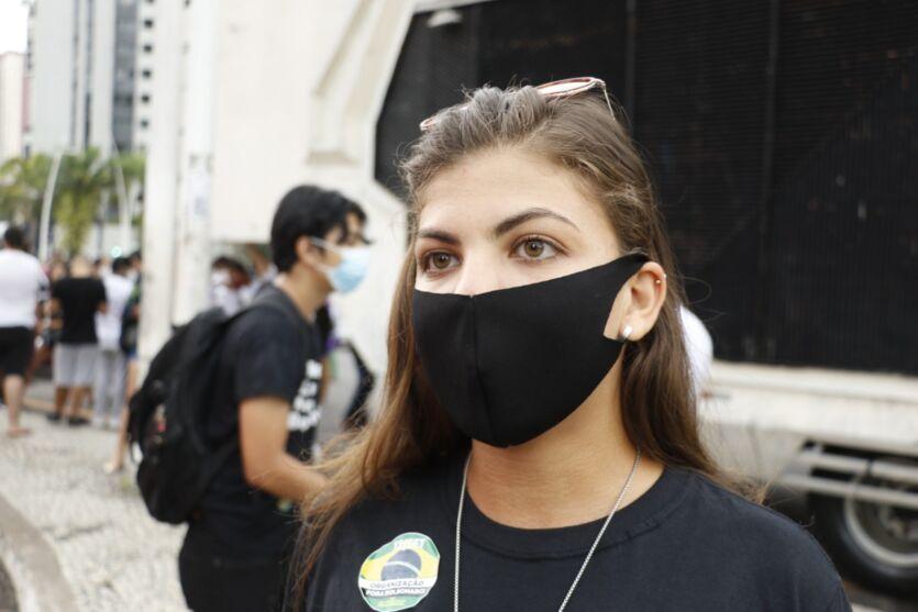 Veja fotos da manifestação contra Bolsonaro em Belém