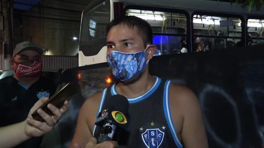 Imagem ilustrativa da notícia: Torcida do Paysandu protesta na sede social do clube