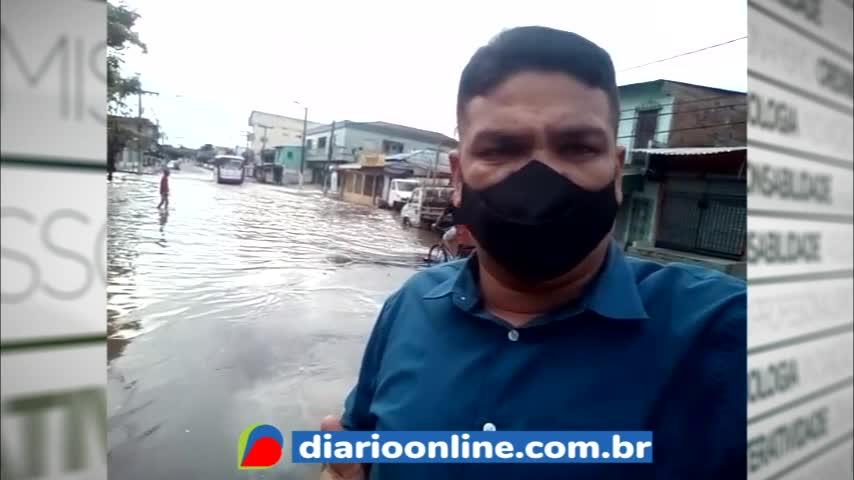 Imagem ilustrativa da notícia: Após chuva, população sofre com o alagamento do canal da Mauriti pela manhã