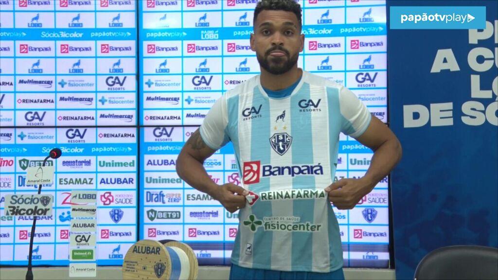 Atacante Thiago Santos já está regularizado e poderá fazer sua estreia no Paysandu diante do Altos-PI.