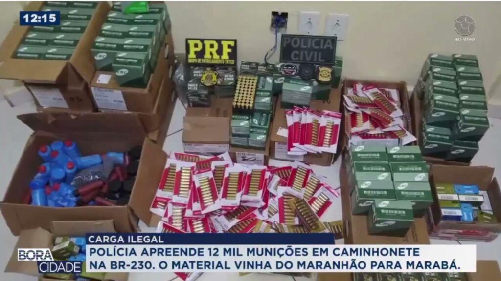 Imagem ilustrativa da notícia: Dupla é presa com 11 mil munições em Marabá